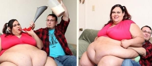 Ela disse que quer engordar até que não consiga se mexer mais.