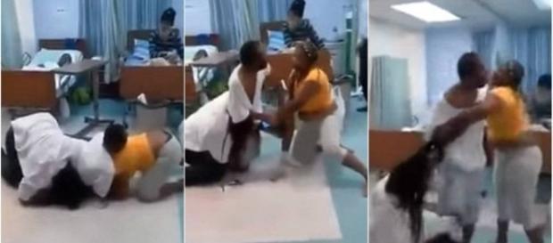 Homem imobiliza esposa e amante em hospital.