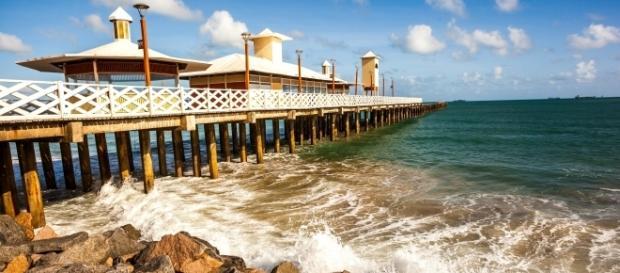 Iracema, uma das principais e mais visitadas praias de Fortaleza