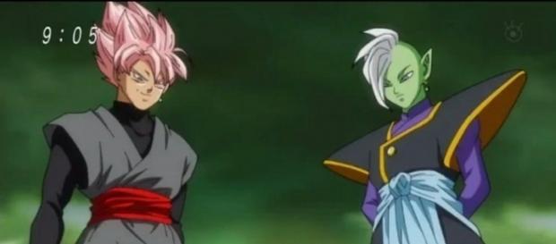La batalla de Zamasu y Black en el futuro