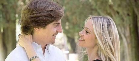 Martina Stella insieme al neo marito Andrea Manfredonia