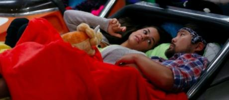 Natalie and James hanging out before eviction day /Photo screencap via CBS Twitter pd