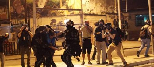 Atos contra Temer são marcados por muita violência
