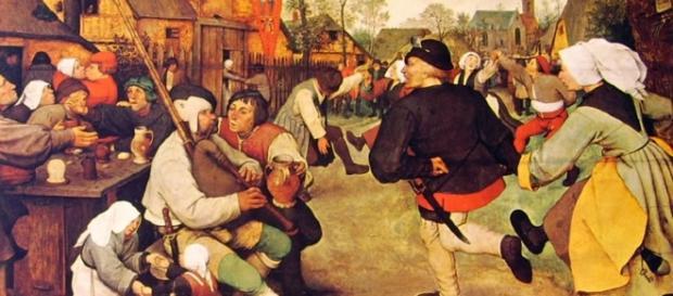 La danza dei contadini di Brueghel