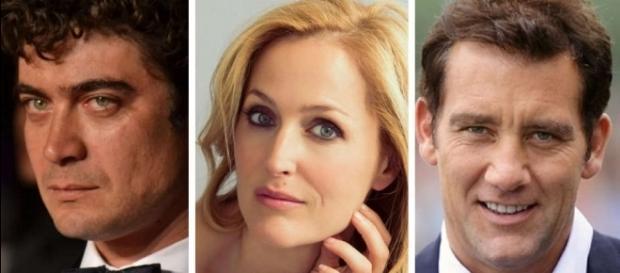 Riccardo Scamarcio, Gillian Anderson e Clive Owen