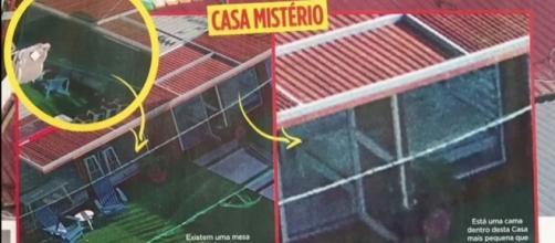 A revista TV Guia sobrevoou a casa com um drone