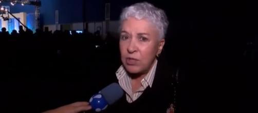 Cidinha Campos reclama de debate ao vivo. Divulgação/RedeTV!