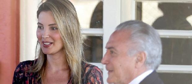 Marcela e Michel Temer - Foto/Reprodução