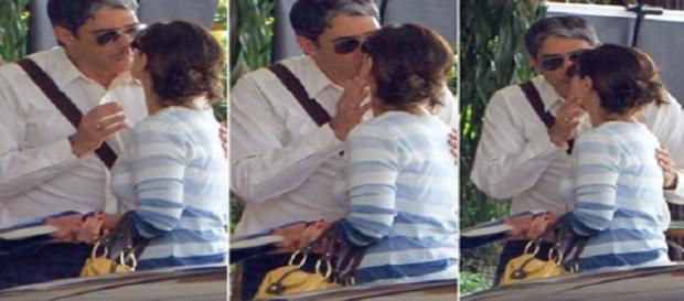 Paparazzi flagra beijo entre Bonner e Fátima.