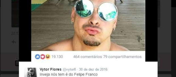 Selfie de Felipe Franco fez sucesso