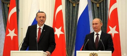 El presidente turco Erdogan visita a Putin, 2012