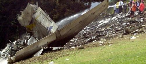 Imagen del Yak 42 en el lugar del siniestro
