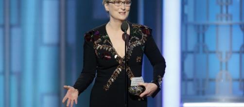 Meryl Streep durante seu discurso