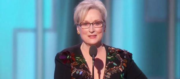 A atriz vencedora de 3 oscars, critica duramente o presidente eleito Donald Trump.