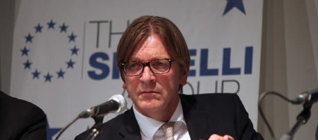 Guy Verhofstadt, capogruppo di Alleanza dei Liberali e Democratici per l'Europa