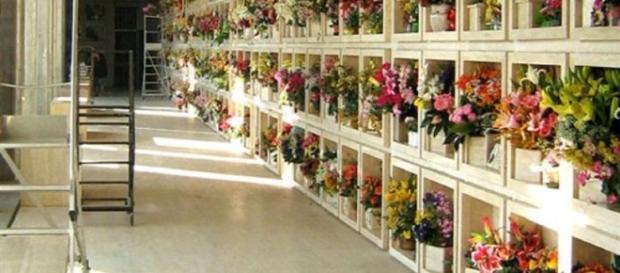 I loculi della parte nuova del cimitero di Noto
