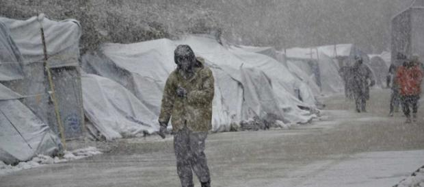 La masa de frío polar procedente de Escandinavia causo, problemas de tráfico fluvial y aéreo en diferentes zonas