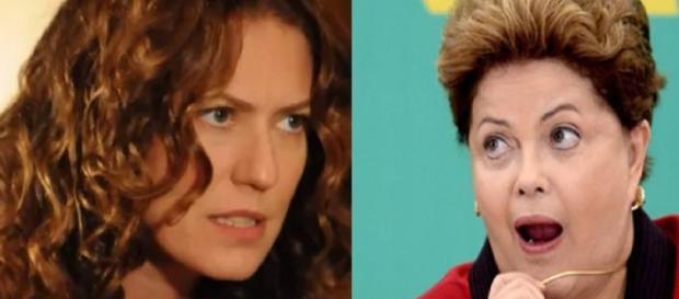 Patrícia Pillar e Dilma Rousseff