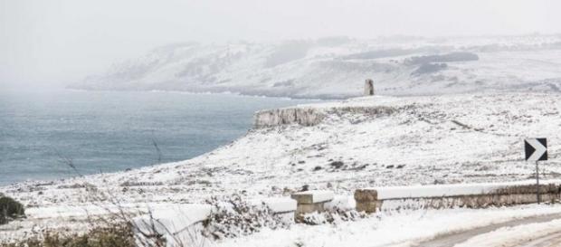 Salento sotto la neve: è la fine del mondo