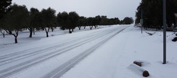 Tanto freddo in Puglia e disagi.