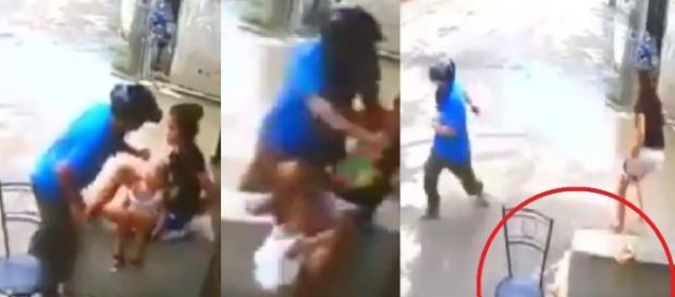 Vídeo mostra bandido batendo em mulher - Google