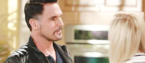 Bill goes to see Brooke before she leaves for Italy, via soaps.sheknows.com