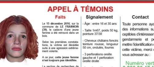 La gendarmerie diffuse un portrait robot 3D de la jeune femme retrouvée morte au Frasnois
