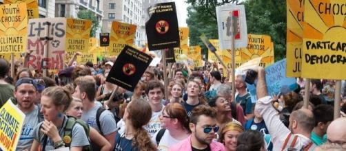 The people's climate march in NYC. Alejandro Alvarez/Wikimedia Commons