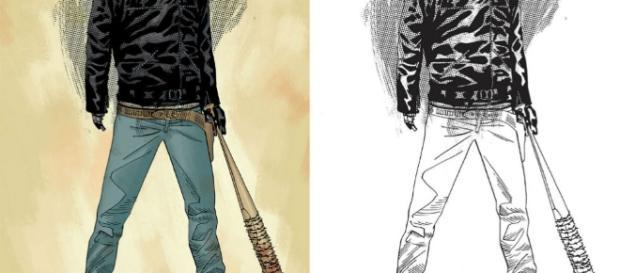 Capa da HQ mostra Rick com a Lucille e jaqueta do Negan