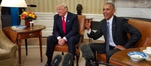 Der blanke Hass? Präsident 44 gegen Präsident 45. (Photo: Voice of America, Public Domain)