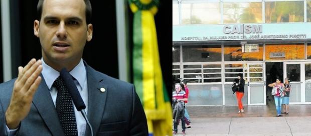 Eduardo Bolsonaro fez mais de uma tentativa de doar para a instituição