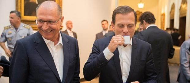 Governador de São Paulo, Geraldo Alckmin, e o prefeito da capital, Doria