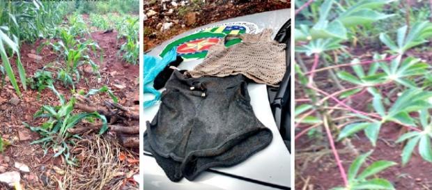 No local do crime, a policia encontrou as evidências da tentativa de estrupo