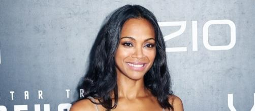 Zoe Saldana goes from action girl to possible pony. / Photo from Us Weekly - usmagazine.com