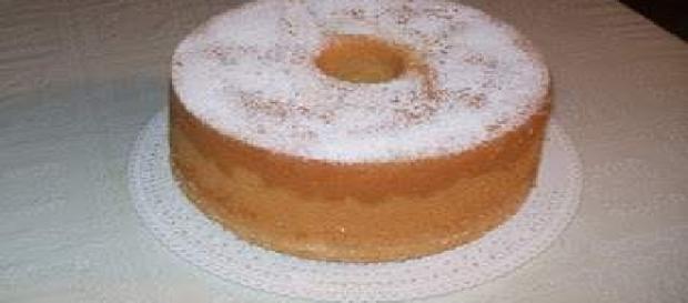 La torta americana Angel food cake