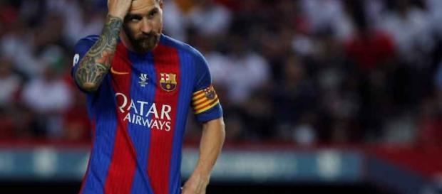 Lionel Messi, jogador do Barcelona da Espanha