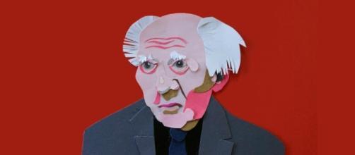 Collage de Zygmunt Bauman realizado en la Academia de Artes de Varsovia.