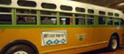 Source: Marilisa Sachteleben. Rosa Parks bus Detroit Henry Ford Museum
