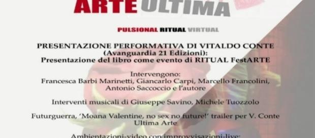 Locandina evento Vitaldo Conte da Exibart
