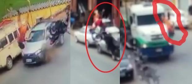 Motociclista tem acidente inacreditável - Google