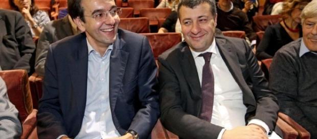 D'Attorre e Scotto, due dei deputati firmatari della lettera al comitato promotore di Sinistra Italiana