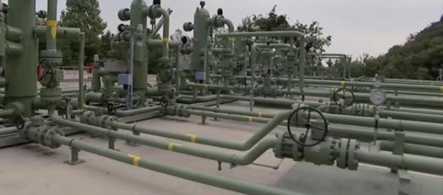Impianto di stoccaggio di gas in piena attività