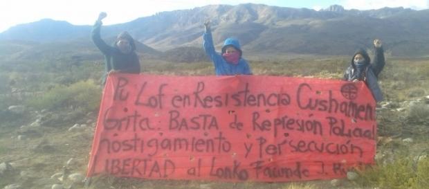 Las tierras ancestrales del Departamento Cushamen están en sector Vuelta del Rio Leleque Ruta 40