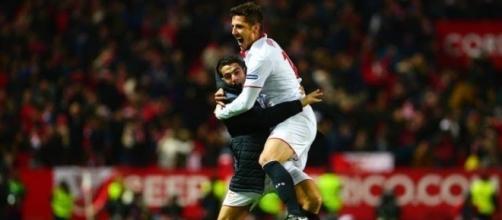 Jovetic esulta dopo il gol vittoria al minuto 92