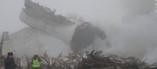 Picture of the crash with smoke all around.http://edition.cnn.com/2017/01/15/asia/kyrgyzstan-plane-crash/index.html