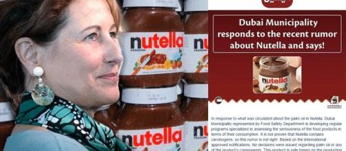 Ségolène Royal confortée par Dubaï : serait-ce un complot international pour dédouaner le Nutella de sa nocivité cancérigène présumée ? ;-)