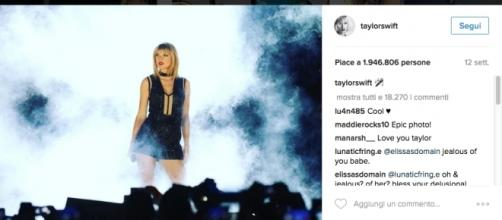 Taylor Swift in concerto Credits: Instagram