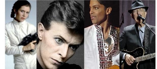 Carrie Fisher, David Bowie, Prince, Leonard Cohen,... muchos han sido los famosos que nos han dejado en el 2016.