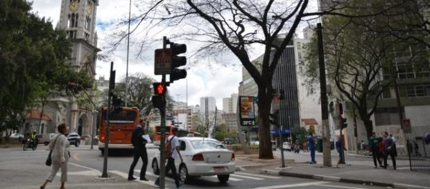 No centro de São Paulo, jovem é agredido por motorista
