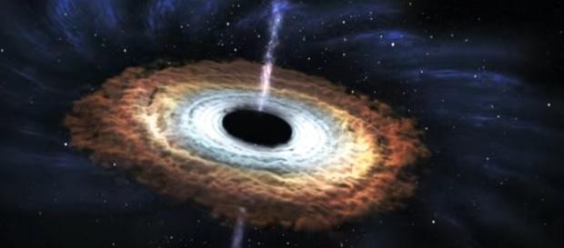 Una simulazione di black hole nella galassia (Credit: NASA Goddard)